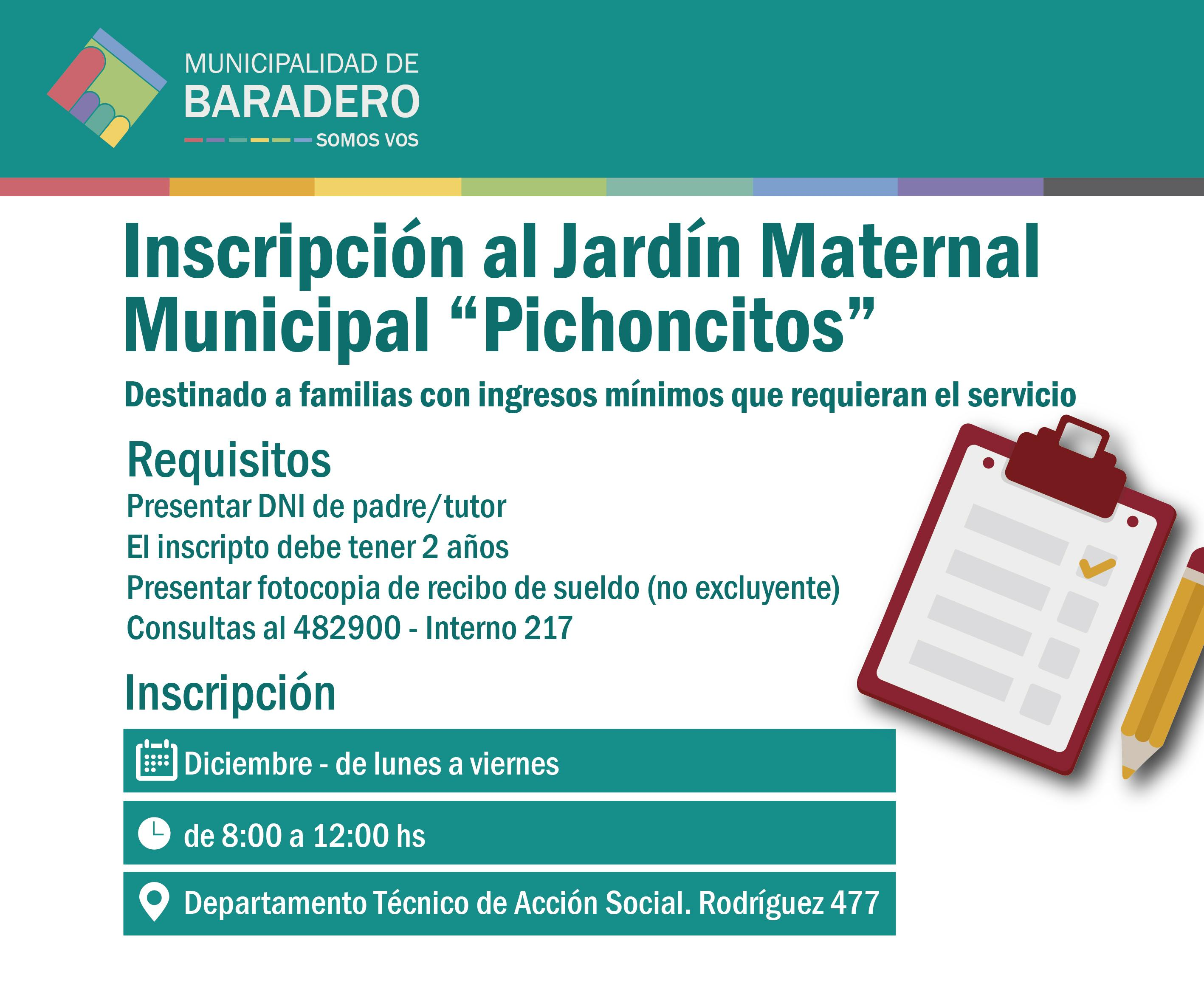 inscripci n al jard n maternal municipal pichoncitos